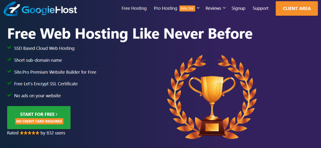 Free Web Hosting For Students: googiehost