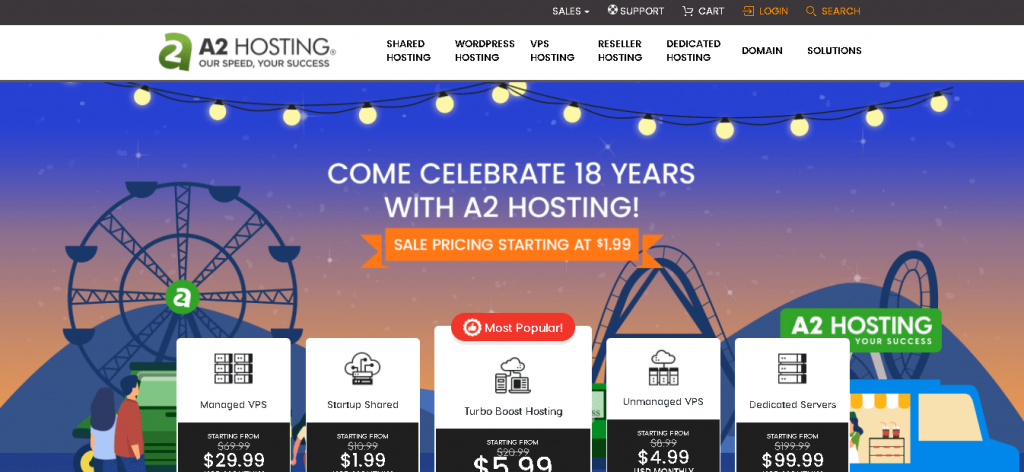 Best Angular Web Hosting in Italy : A2Hosting-Home Page