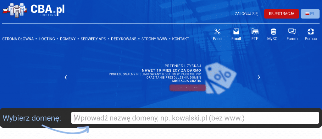 Best Web Hosting in Poland: CBA.pl Home Page