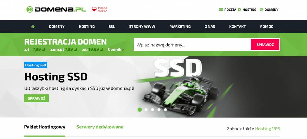 Best Web Hosting in Poland: Domena.pl Home Page