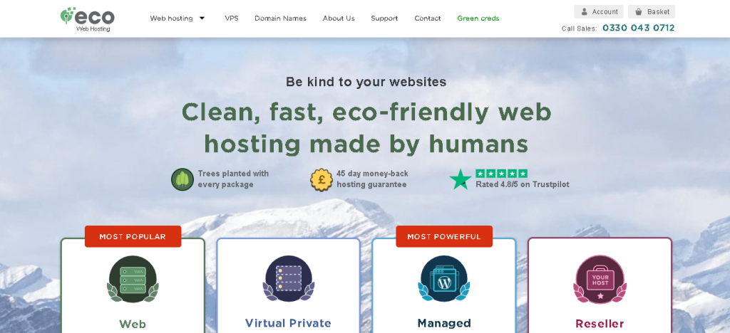 Best Angular Web Hosting in Colombia: Eco Web Hosting Home Page