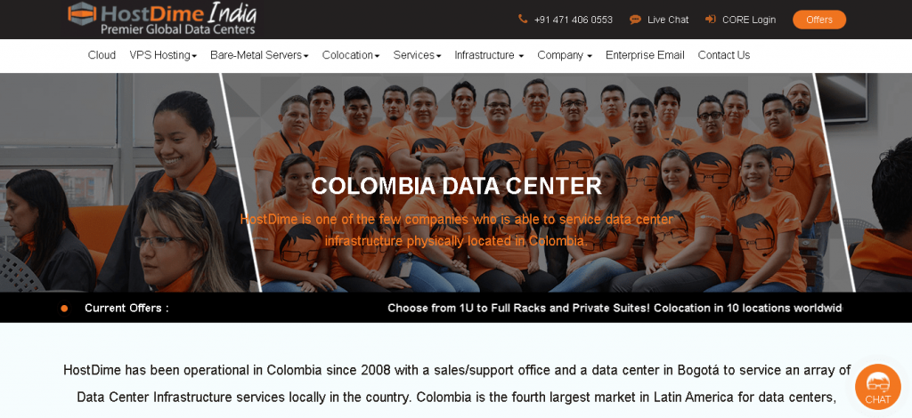Best Angular Web Hosting in Colombia: Host Dime Home Page