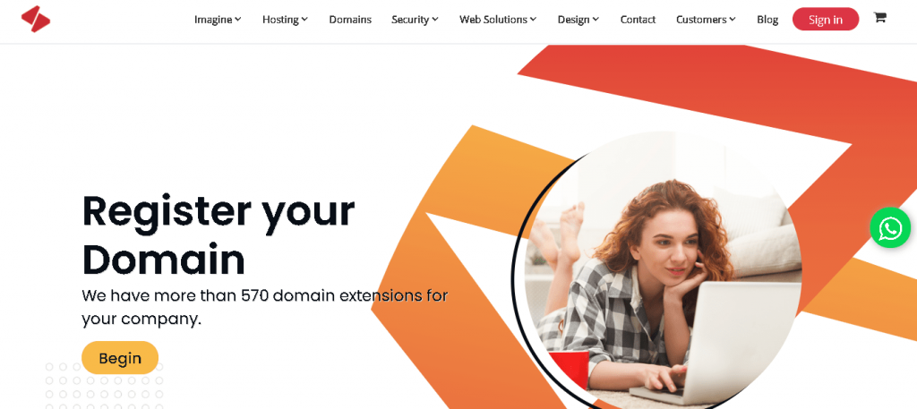 Best Angular Web Hosting in Colombia: Imagina Colombia Home Page