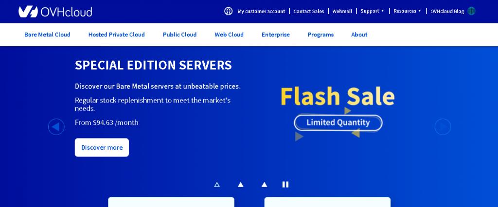 Best Web Hosting in Spain: OVHcloud Home Page