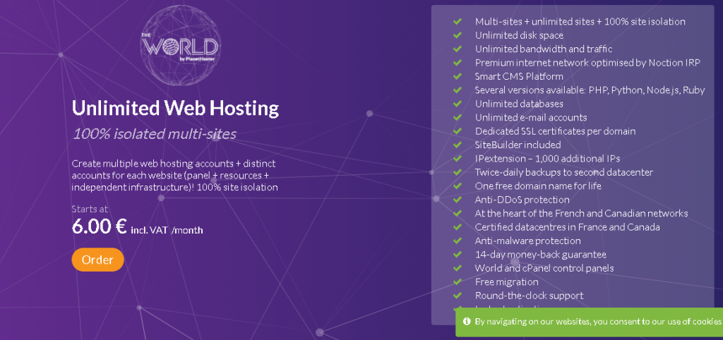 Best Angular Web Hosting in Canada: PlanetHoster plan