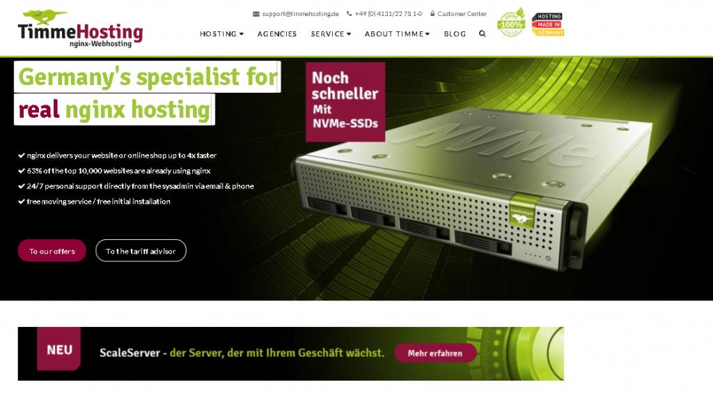 Best Angular Web Hosting in Germany: timmehosting