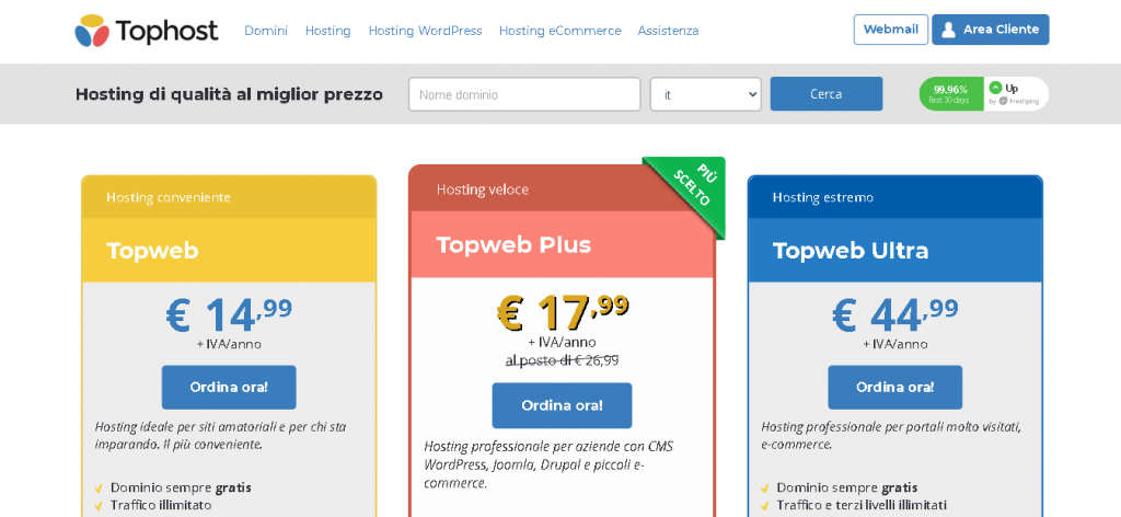 Best Angular Web Hosting in Italy: TopHost