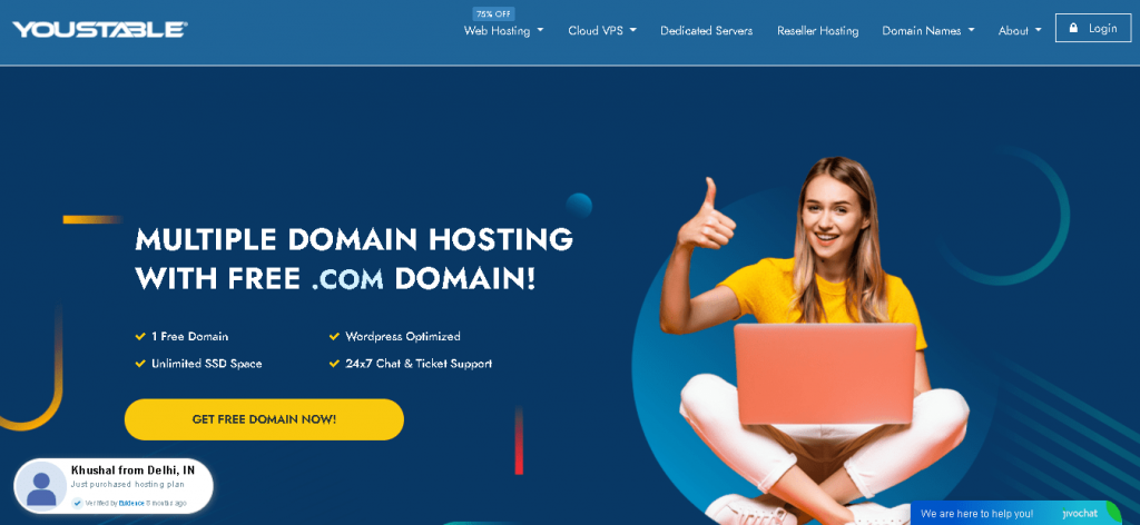 Best Web Hosting in Australia: Youstable-home page