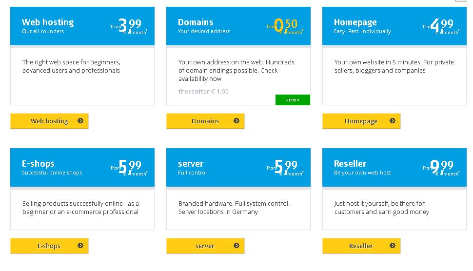 Best Angular Web Hosting in Germany: alfahosting plan