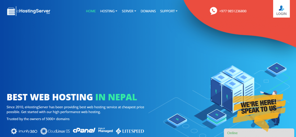 Best Angular Hosting in Nepal: eHosting Server