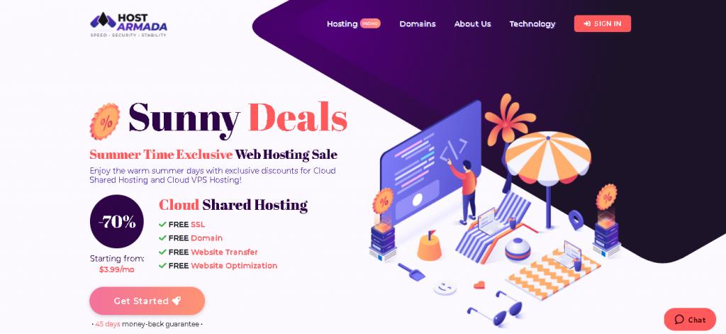Best Angular Web Hosting in Italy : hostarmada Home Page
