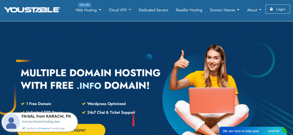 DMCA ignored hosting providers: YouStable