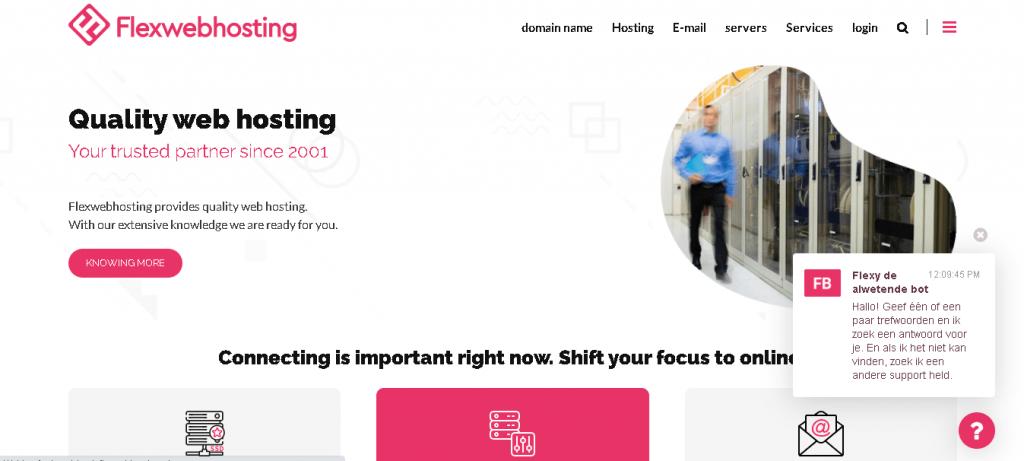Best Web Hosting in Netherlands: Flexwebhosting Home Page