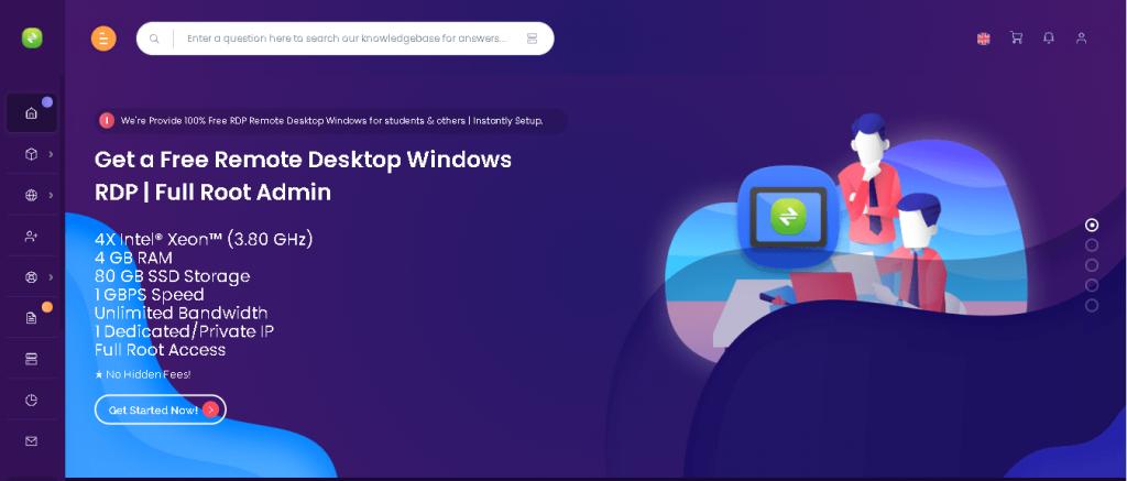 Free RDP server List: Ixremote Hosting Home page