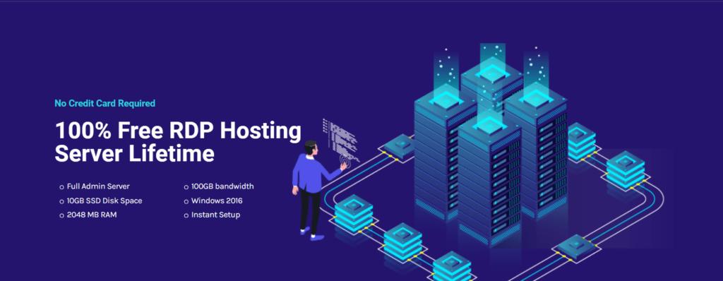 Free RDP server List:  RDPhosting Home Page