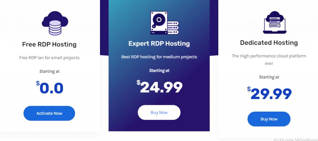 Free RDP server List: RDP Hosting plan