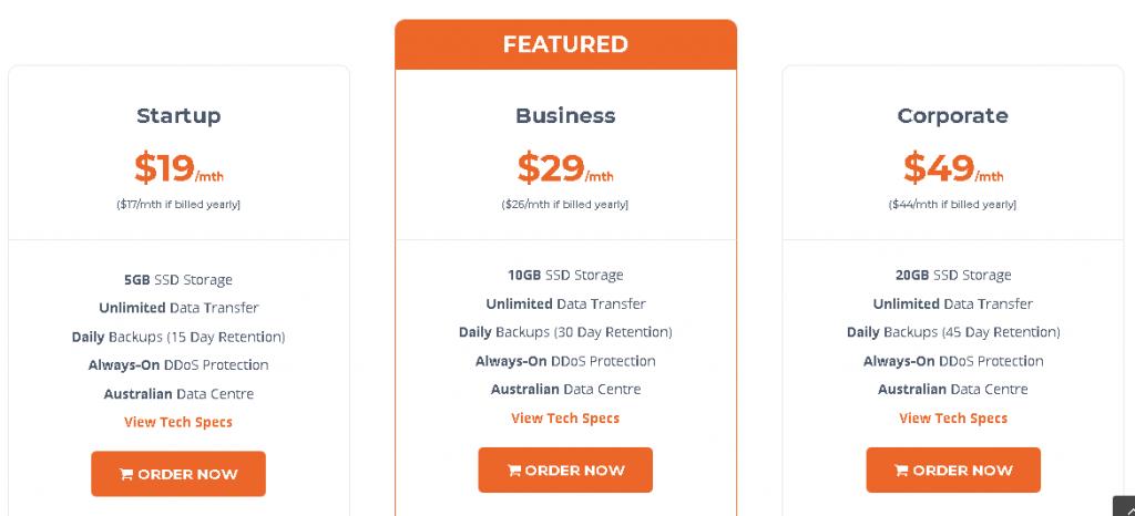 Best Web Hosting in Australia: WP Hosting Plan